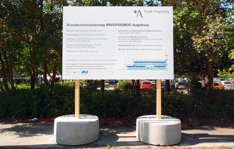 Baustellentafel Augsburg